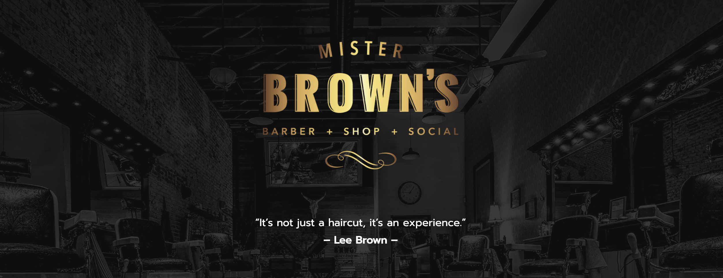 MISTER BROWNS BARBERSHOP