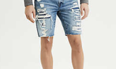 Cutoff jean shorts